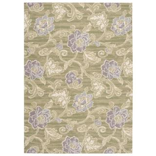Waverly Sun N' Shade Wasabi Indoor/ Outdoor Rug by Nourison (5' x 7')