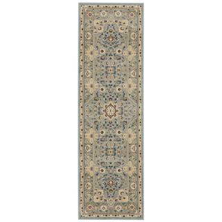 kathy ireland Antiquities Imperial Garden Slate Blue Area Rug by Nourison (2'2 x 7'6)