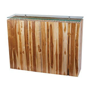 LS Dimond Home Bundled Teak Root Console