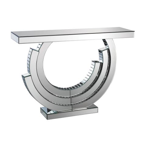 LS Dimond Home Layered Crescent Mirrored Console