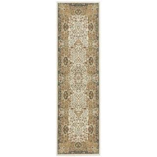 kathy ireland Antiquities Stately Empire Ivory Area Rug by Nourison (2'2 x 7'6)