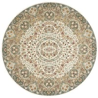"kathy ireland Antiquities Stately Empire Ivory Area Rug by Nourison - 7'10"" x 7'10"""