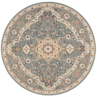 kathy ireland Antiquities Imperial Garden Slate Blue Area Rug by Nourison (5'3 x 5'3)