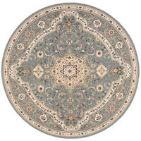 kathy ireland Antiquities Imperial Garden Slate Blue Area Rug by Nourison - 5'3 x 5'3