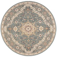 kathy ireland Antiquities Imperial Garden Slate Blue Area Rug by Nourison (7'10 x 7'10)