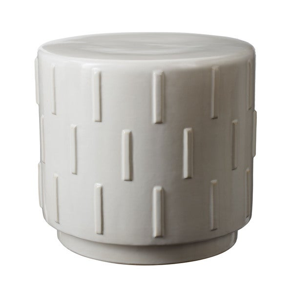 Ls Dimond Home White Tread Stool Free Shipping Today