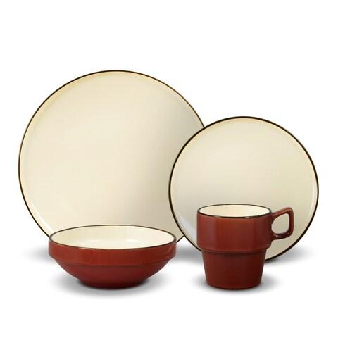 Gourmet Basics by Mikasa Alpine Red 16-piece Dinnerware Set