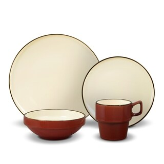 Gourmet Basics by Mikasa Alpine Red 16-piece Dinnerware Set