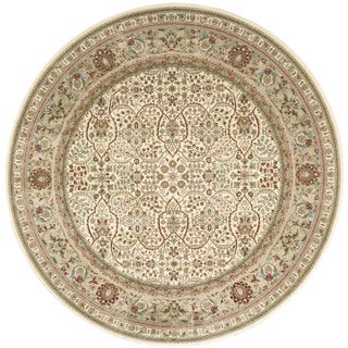 kathy ireland Antiquities American Jewel Ivory Area Rug by Nourison (5'3 x 5'3)