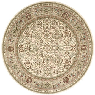 kathy ireland Antiquities American Jewel Ivory Area Rug by Nourison (7'10 x 7'10)