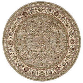 kathy ireland Antiquities American Jewel Cream Area Rug by Nourison (7'10 x 7'10)