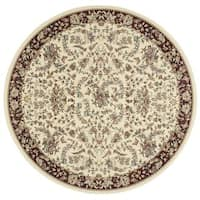 kathy ireland Antiquities Timeless Elegance Ivory Area Rug by Nourison (5'3 x 5'3)