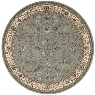kathy ireland Antiquities Royal Countryside Slate Blue Area Rug by Nourison (5'3 x 5'3)