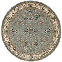 kathy ireland Antiquities Royal Countryside Slate Blue Area Rug by Nourison - 5'3 x 5'3