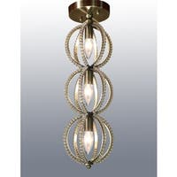 Emma 3-light Antique 7-inch Crystal Flush Mount