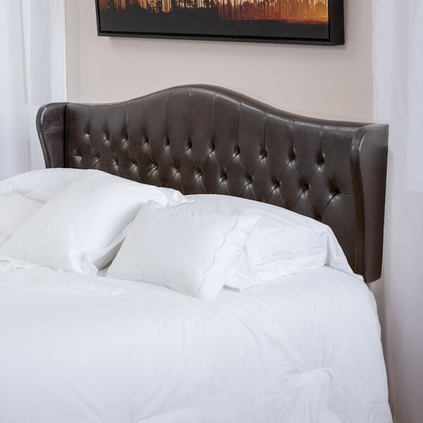 Alford Adjustable Brown Bonded Leather Headboard By Christopher Knight Home