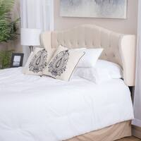 Alford Adjustable Beige Fabric Headboard by Christopher Knight Home