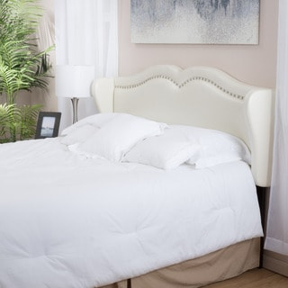Bingley Adjustable Ivory Bonded Leather Headboard by Christopher Knight Home