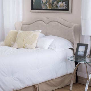 Christopher Knight Home Bingley Adjustable Beige Fabric Headboard