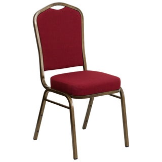 Omega Burgundy Upholstered Stack Dining Chairs
