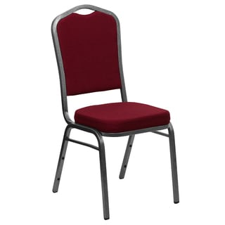 Royal Burgundy Upholstered Stack Dining Chairs