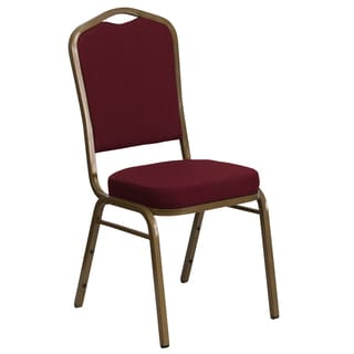 Comet Burgundy Upholstered Stack Dining Chairs