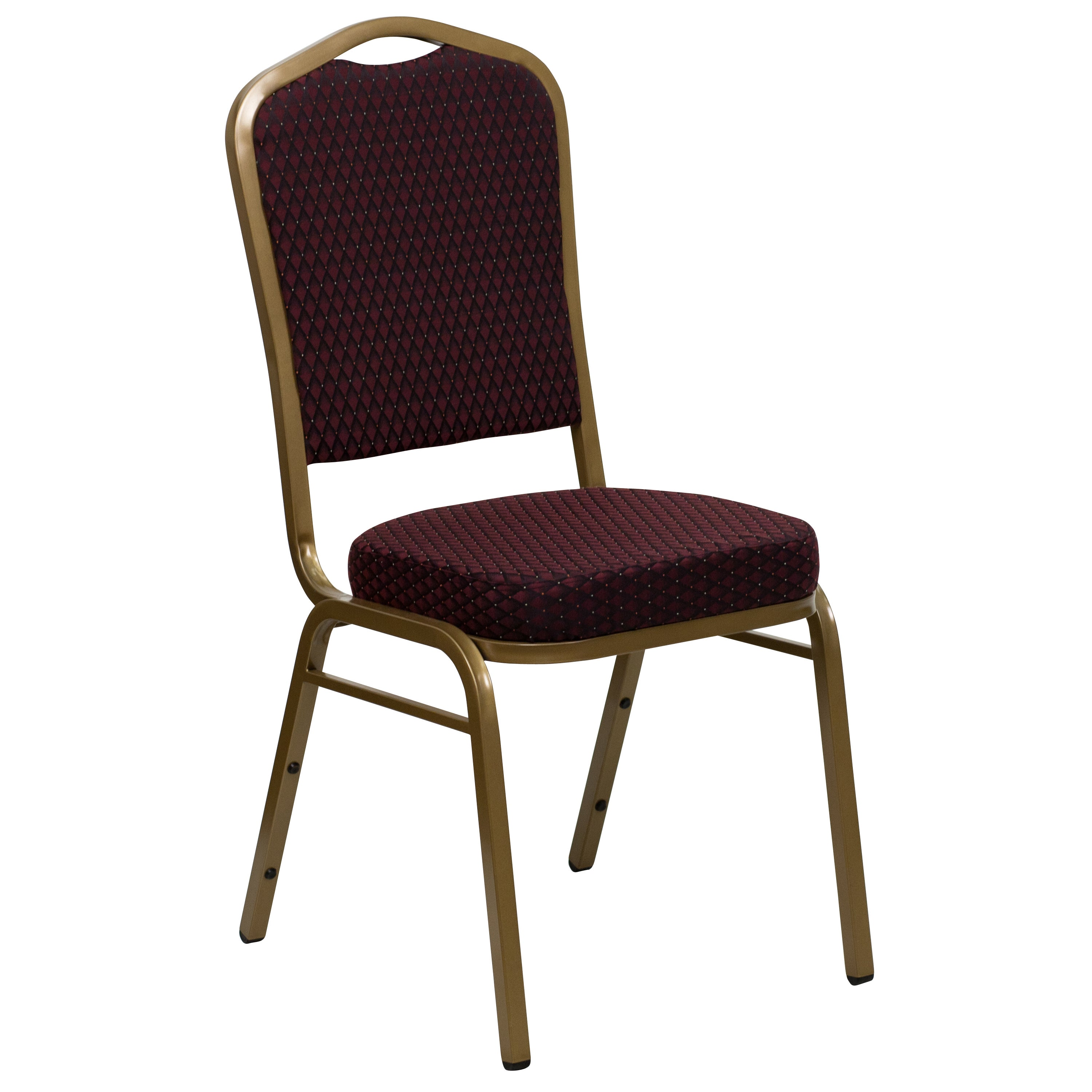 Rough Burgundy Diamond Upholstered Stack Dining Chairs (B...