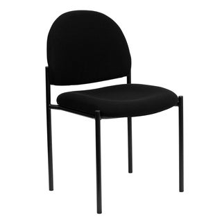 Pagoda Black Upholstered Stack Dining Chairs