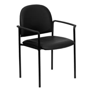 Mariner Black Upholstered Stack Arm Chairs