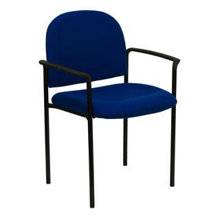 Pagoda Blue Upholstered Stack Arm Chairs