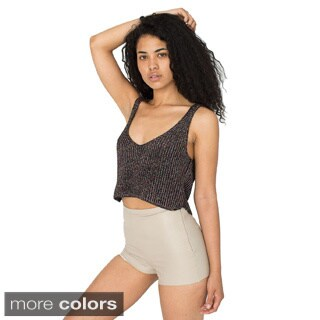 American Apparel Women's Sparkle Crop Tank