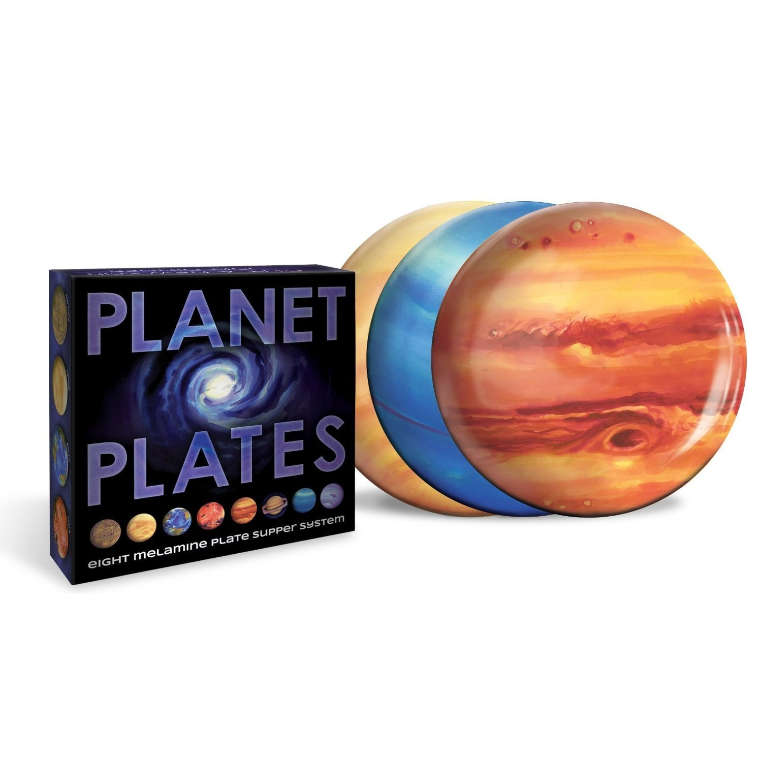 Planet Plates Solar System Dinner Plates (Multicolor), Mu...