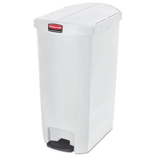 Rubbermaid Slim Jim Resin White 18 gal Step-On Container