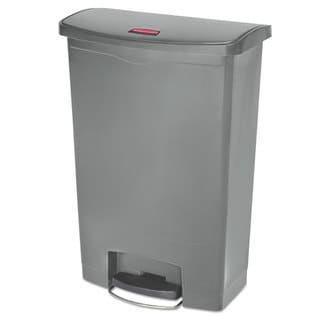 Rubbermaid Slim Jim Resin Gray 24 gal Step-On Container