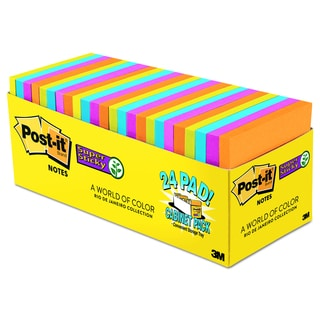 Post-it Notes Super Sticky Pads in Rio de Janeiro Colors (Pack of 24)