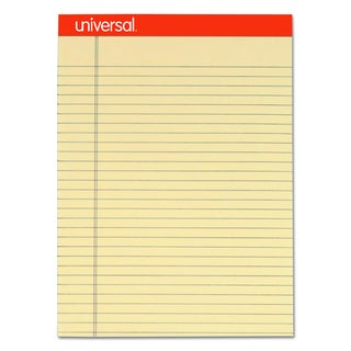 Universal Fashion-Colored Perforated Ivory Note Pads (Pack of 6 Pads)