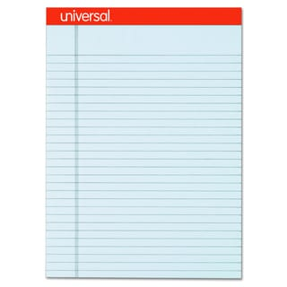 Universal Fashion-Colored Perforated Gray Note Pads (Pack of 6 Pads)