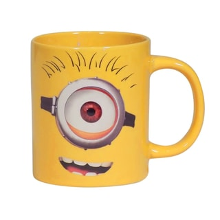 Despicable Me One Eyed Minion 14-ounce Yellow Ceramic Coffee Mug