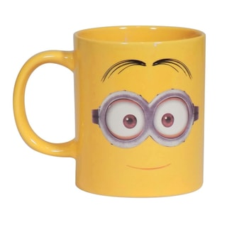 Despicable Me Two Eyed Minion 14-ounce Yellow Cermaic Coffee Mug