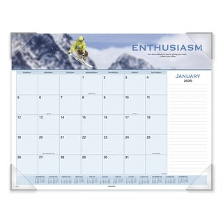 AT-A-GLANCE Motivational Panoramic Desk Pad, 22 x 17, 2019