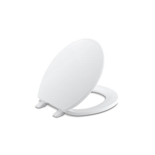 Shop Kohler Brevia Plastic Round Toilet Seat K 4775 47