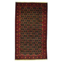 Handmade Herat Oriental Afghan 1960s Semi-antique Tribal Balouchi Wool Rug - 3'8 x 6'8 (Afghanistan)