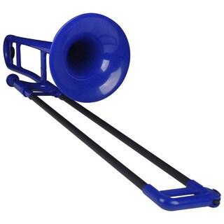 Jiggs Pbone Blue Plastic Trombone