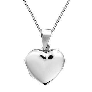 Handmade Secret of the Heart .925 Sterling Silver Locket Necklace (Thailand)