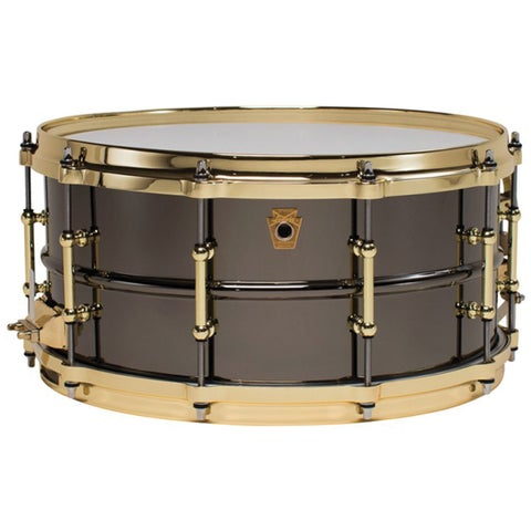 Ludwig LB417BT Black Beauty Brass on Brass Snare Drum