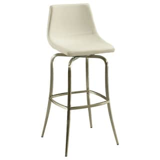 Diamond Pearl Swivel Off-White Barstool
