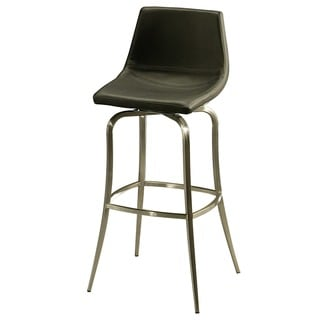 Diamond Pearl Swivel Black Barstool