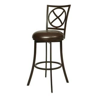Zelenia Swivel 30-inch Brown Barstool