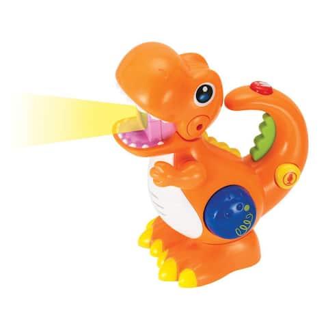 Winfun Recording and Voice Changing Dinosaur with Flashlight - Orange