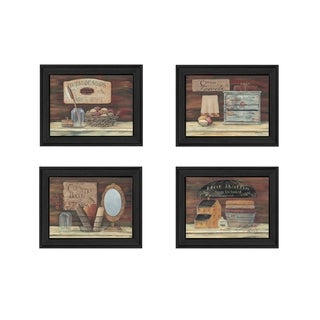 """""""Bathroom I"""" Collection By Pam Britton, Printed Wall Art, Ready To Hang Framed Poster, Black Frame"""